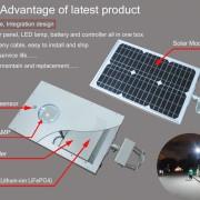 Display of  integrated solar street light