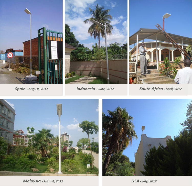 integrated solar street light 12W application