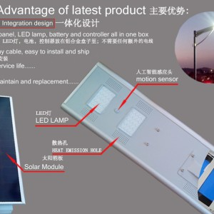 the feature of integrated led street light series