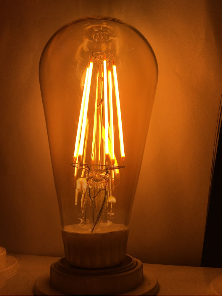 ST64 LED filament light