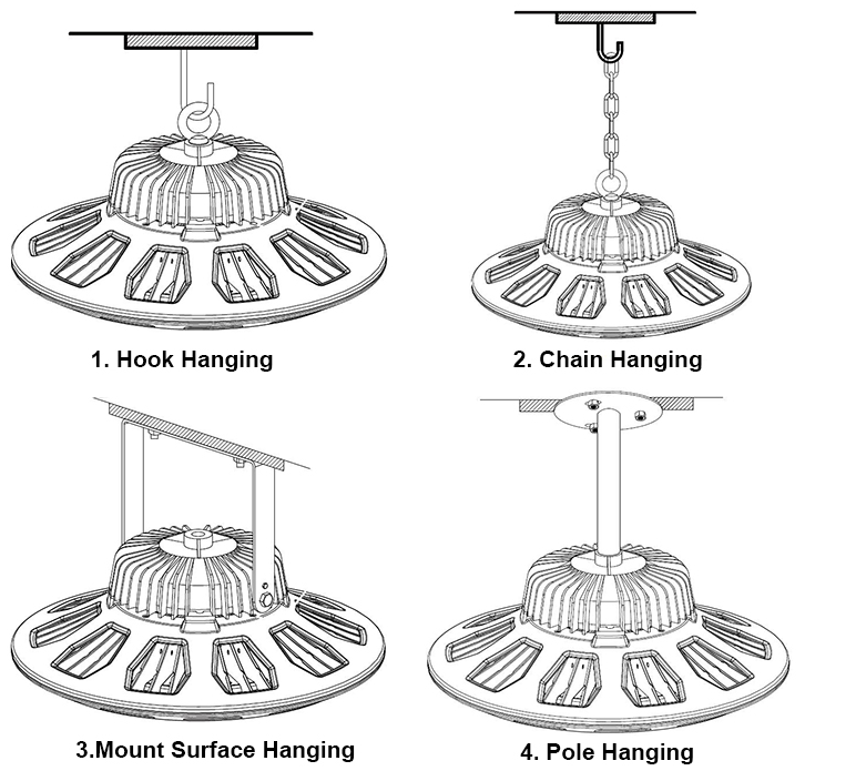UFO led high bay light installation(1)