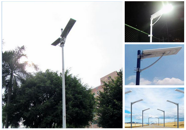 all in one solar street light application