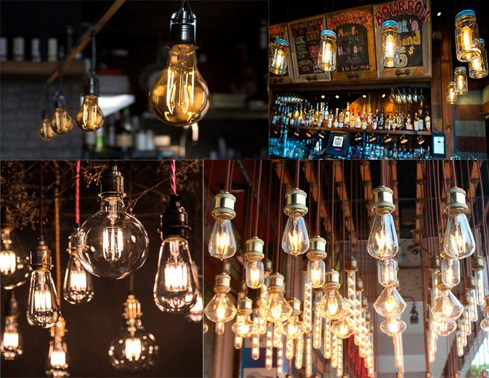 led filament light bulb applications