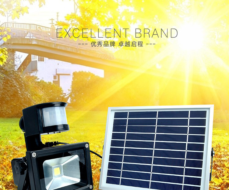 solar rechargeable led flood light(2)