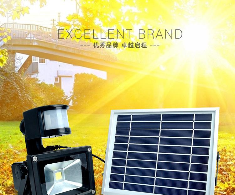 solar rechargeable led flood light(2)