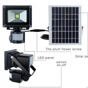 solar rechargeable led flood light(12)