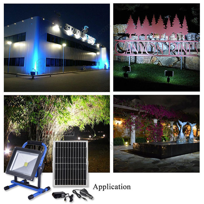 solar rechargeable led flood light(13)