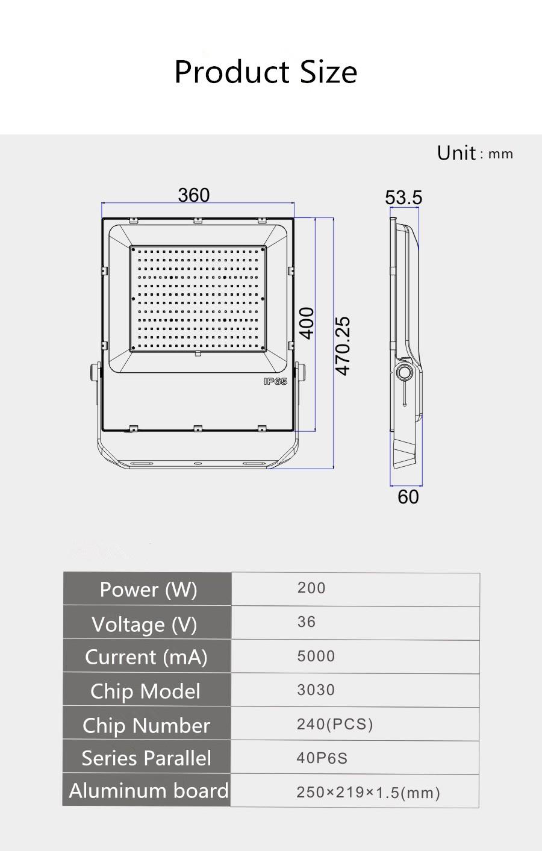 led flood light 200w (2)