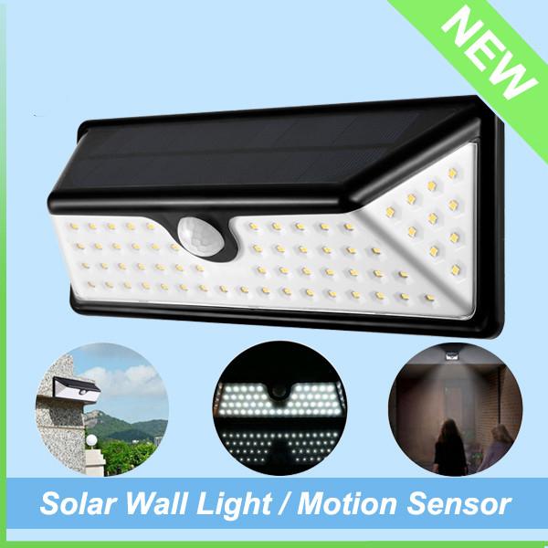 IP65 Waterproof Outdoor Washer Motion Sensor Solar LED Wall Light (1)