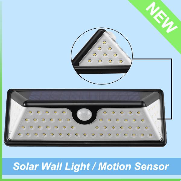 IP65 Waterproof Outdoor Washer Motion Sensor Solar LED Wall Light (6)