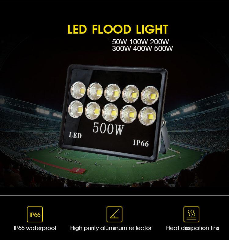 Outdoor IP66 100W 150W 200W 300W 400W 500W LED Floodlight (2)