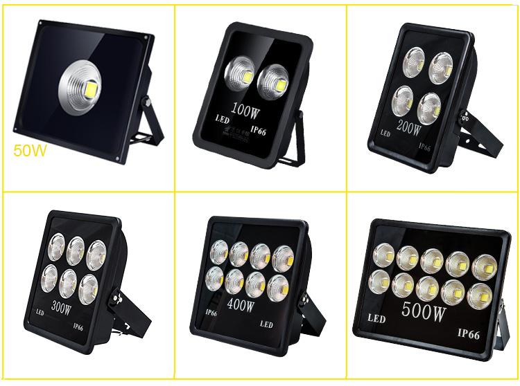 Outdoor IP66 100W 150W 200W 300W 400W 500W LED Floodlight (3)