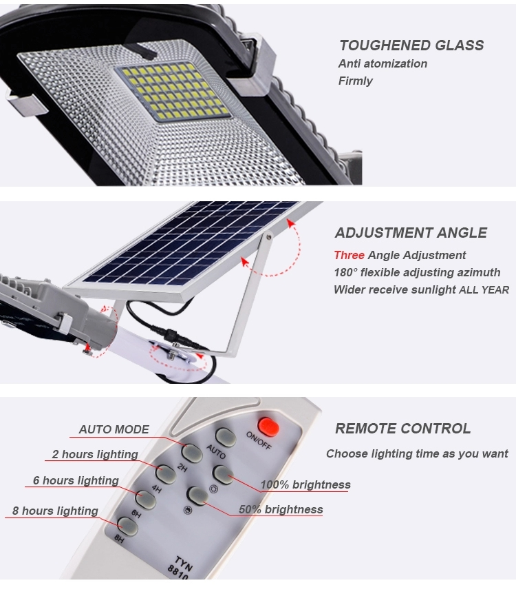10W 20W 30W 50W 120W Outdoor Ip65 Solar Power Integrated Led All In One Solar Street Light (9)