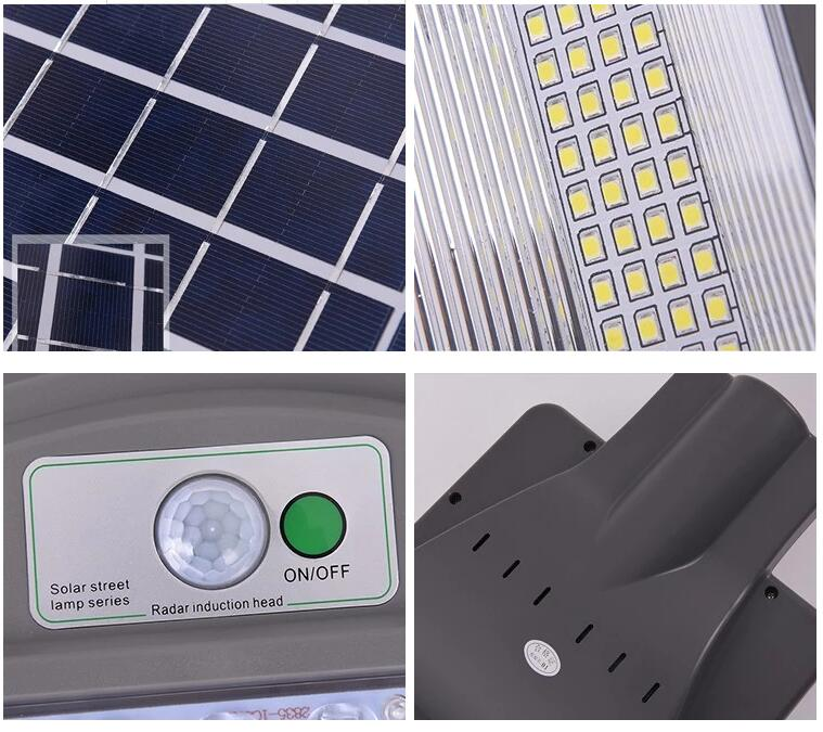 Automatic control IP65 waterproof ABS 20W 40W 60W all in one led solar street light (4)