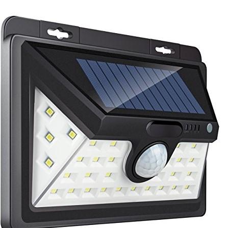 Outdoor Waterproof 20 LED Rechargeable Solar Power PIR Motion Sensor Wall Light for Garden (4)