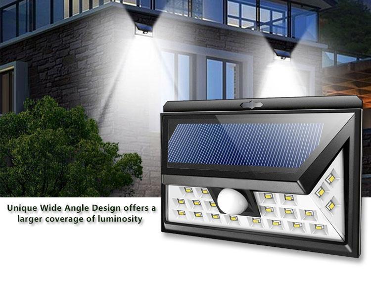 Outdoor Waterproof 20 LED Rechargeable Solar Power PIR Motion Sensor Wall Light for Garden (6)
