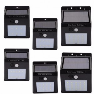 Outdoor Waterproof 20 LED Rechargeable Solar Power PIR Motion Sensor Wall Light for Garden (9)