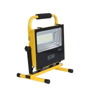 IP65 Outdoor emergency alarm red and blue flash 60w 120w led rechargeable flood light (4)