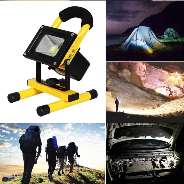Rechargeable LED Floodlight IP65 10w 20w with Magnetic foot (4)