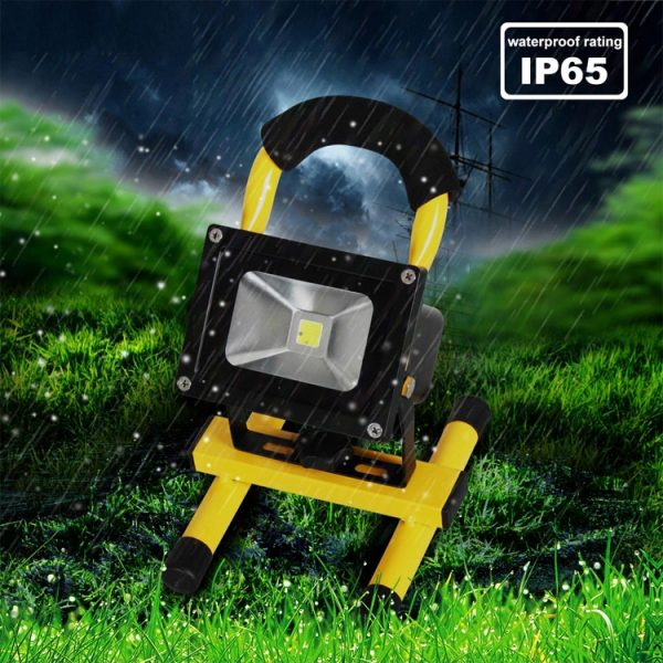 Rechargeable LED Floodlight IP65 10w 20w with Magnetic foot (7)