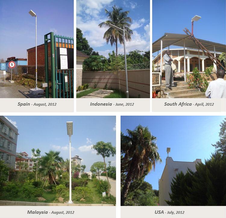 integrated solar street light 12W application