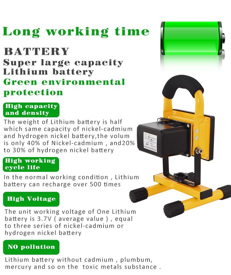 led rechargeable flood light(5)