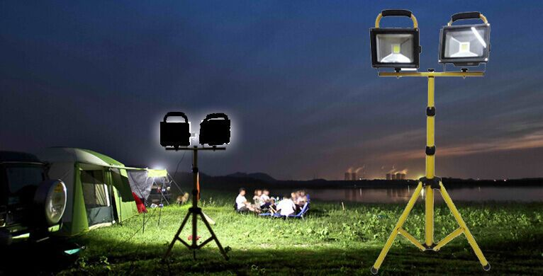 rechargeable led flood light application