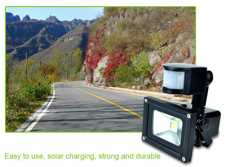 solar rechargeable led flood light(3)