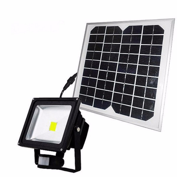 Ip65 Outdoor Solar Led Flood Light 10w With Pir Motion