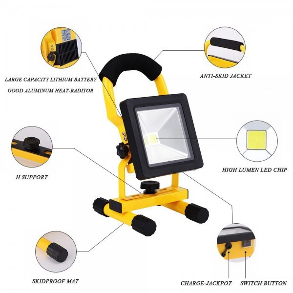 rechargeable led floodlight 20w(7)