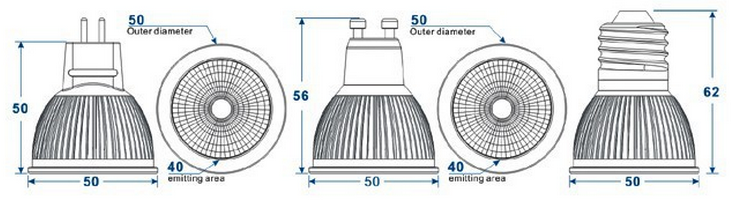 gu10 led spot light(8)