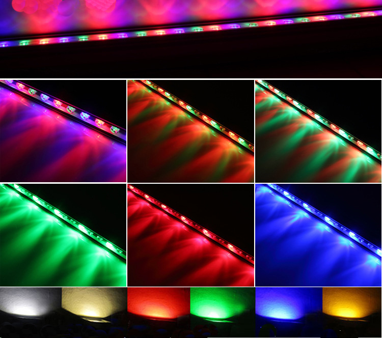 36w Ip65 Rgb Color Transforming Led Wall Washer Light