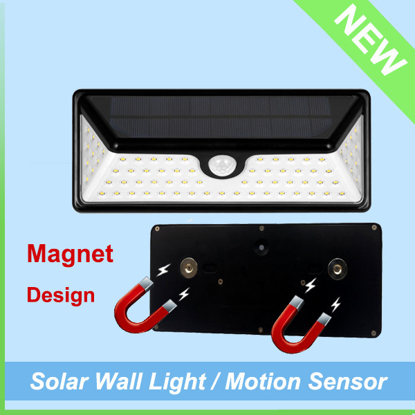 IP65 Waterproof Outdoor Washer Motion Sensor Solar LED Wall Light (4)