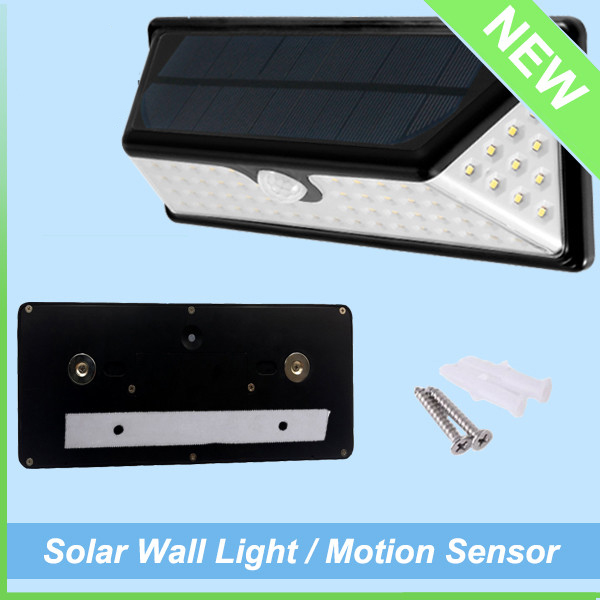 IP65 Waterproof Outdoor Washer Motion Sensor Solar LED Wall Light (5)