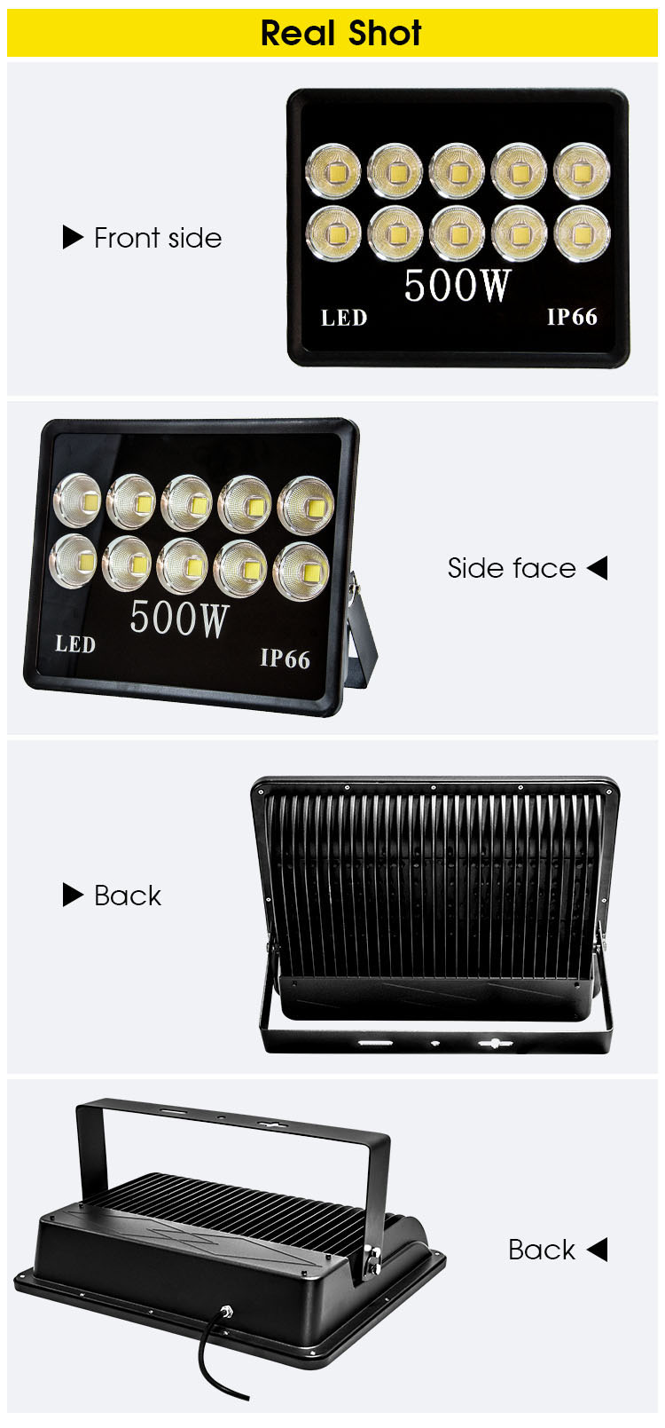 Outdoor IP66 100W 150W 200W 300W 400W 500W LED Floodlight (4)