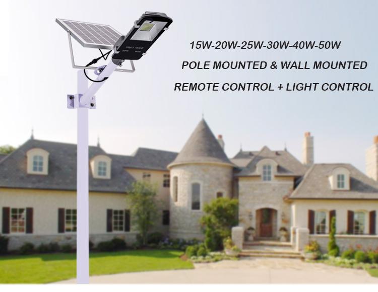 10W 20W 30W 50W 120W Outdoor Ip65 Solar Power Integrated Led All In One Solar Street Light (4)
