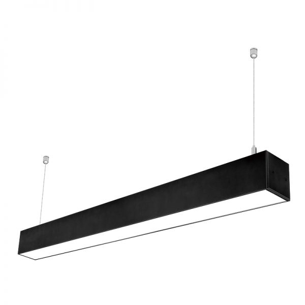 7575 aluminum profile 40w 1200mm LED Suspended Lighting Linkable Linear Light Fixtures for Supermarket Warehouse (1)