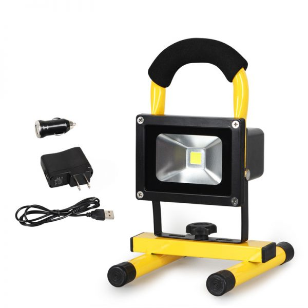 Rechargeable LED Floodlight IP65 10w 20w with Magnetic foot (5)