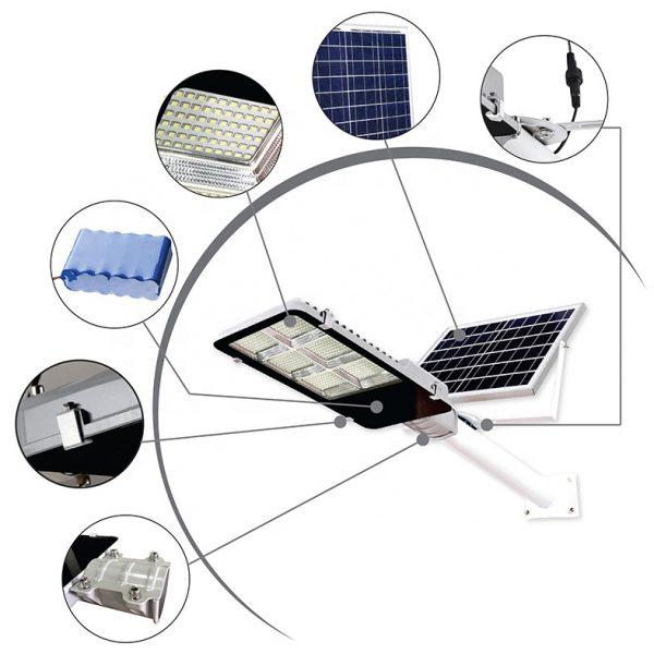 Remote Control IP65 Outdoor Waterproof 50w 100w 200w 300w Integrated Solar Led Street Light (5)